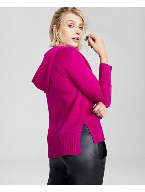 Charter Club Cashmere Solid Hooded-Pullover, In Regular and Petites, Created for Macy's