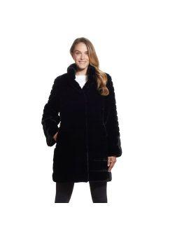 Women's Gallery Faux-Fur Walker Coat