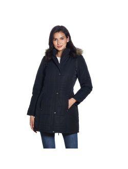 Women's Weathercast Faux-Fur Hood Puffer Coat