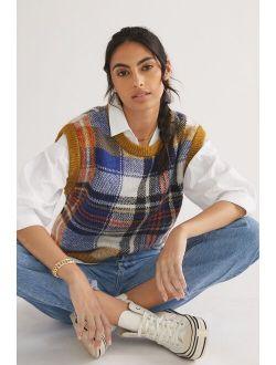 Maeve Plaid Sweater Vest