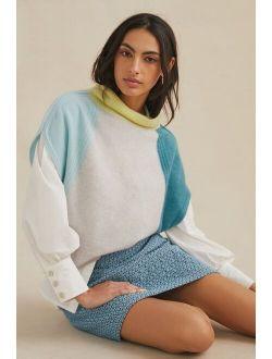Pilcro Cowl Neck Cashmere Sweater