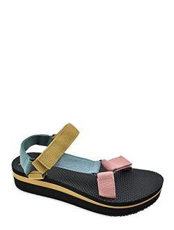 Women's Flatform Multicolored Nature Sandal