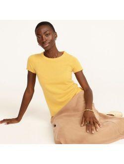 Short-sleeve cashmere T-shirt