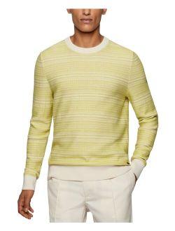 BOSS Men's Knitted Cotton Wool Sweater