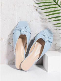 Minimalist Knot Decor Slide Sandals