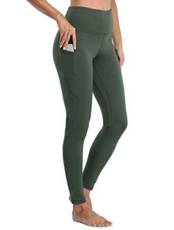 Willit Women's Fleece Lined Yoga Leggings Thermal Winter Running Workout Tights Pants High Waisted with Pockets