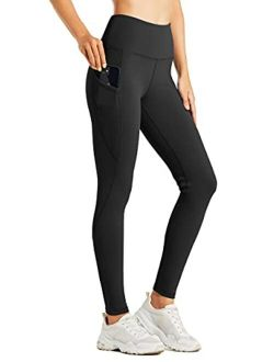 Willit Women's Fleece Lined Legging Water Resistant Legging Thermal Winter Hiking Yoga Running Tights High Waisted