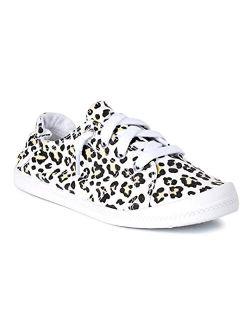 Leopard Scrunchback Sneakers