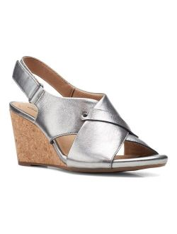® Margee Eve Women's Leather Wedge Sandals