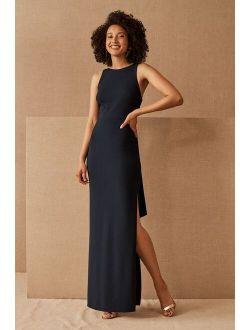 BHLDN London Crepe Tie-Back Dress