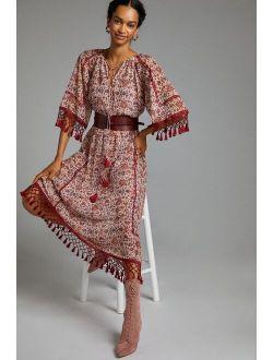 Sachin & Babi Tasseled Floral Maxi Dress