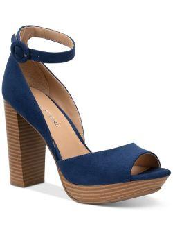 Sun + Stone Reeta Block-Heel Platform Sandals, Created for Macy's