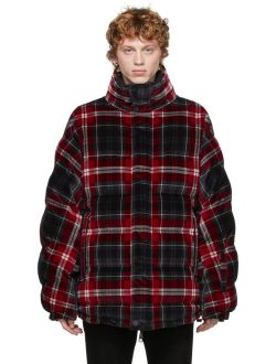 Dolce & Gabbana Reversible Black & Red Quilted Check Jacket