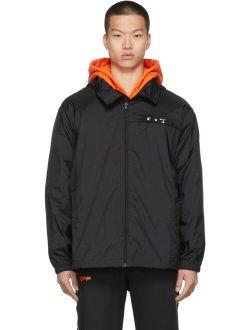 Off-White Black Nylon Ripstop Logo Windbreaker Jacket