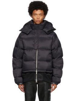 HELIOT EMIL Black Down Hooded Jacket