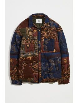Pattern Quilted Shirt Jacket