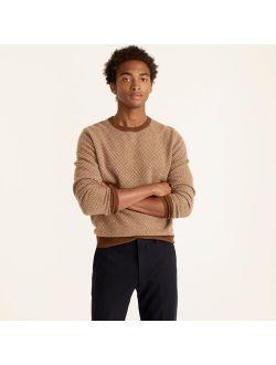 Cashmere herringbone jacquard crewneck sweater