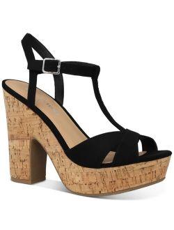 Sun + Stone Jamie T-Strap Platform Dress Sandals, Created for Macy's