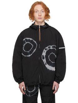 Aries Black Tie-Dye Windcheater Jacket