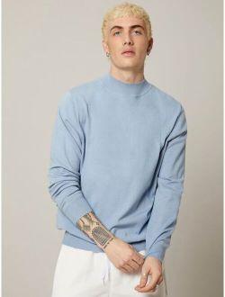 Basics Men Mock Neck Sweater