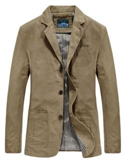 Men Dual Pocket Single Breasted Coat