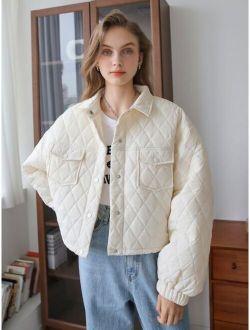 Coldbreak Letter Patched Winter Coat