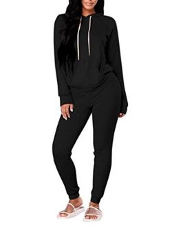 FUPHINE Womens's Tie Dye Jogger Outfit Sweatsuit 2 Piece Sweatshirt Long Sleeve Hooded and Pants Lounge Sets Tracksuit