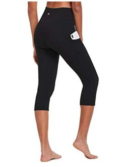 BALEAF Women's Capri Leggings High Waisted Yoga Pants Stretch 3/4 Workout Exercise Capris with Pockets