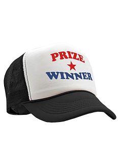 The Goozler - Prize Winner - Funny Joke Gag Birthday Prank - Vintage Retro Style Trucker Cap Hat