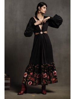 Geisha Designs Karolina Cut-Out Maxi Dress
