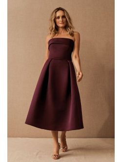 Amsale Russo Midi Dress