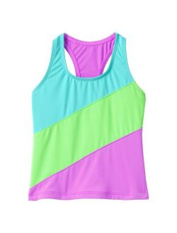 Lands' End Colorblock Tankini Swimsuit Top