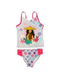 's Raya Girls 4-6x Tankini Top & Bottoms Swimsuit Set
