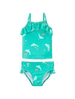 Girls 4-14 Carter's Dolphin Tankini Top & Bottoms Swimsuit Set