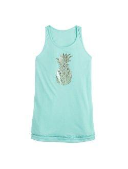 Girls 7-16 SO® Pineapple Swimsuit Cover Up