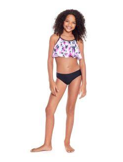 Glitter Beach Big Girls Flounce Bikini Set, 2 Piece