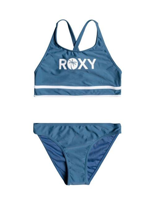 Roxy Big Girls Perfect Surf Time Crop Top Bikini Set