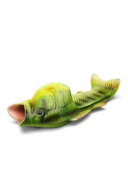 Creative Fish Slippers Man Funny Fish Sandals Men Beach Large Mouth Bass flip Flops Slides