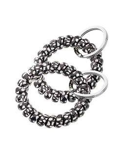 AKTAP Spring Spiral Coil Keychain Bracelets Coil Wrist Keying Stretchy Keychain