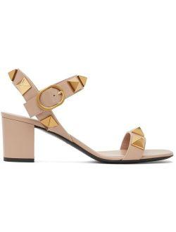 Pink Roman Stud 60 Heeled Sandals