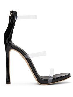 Giuseppe Zanotti Black Patent Harmony Strass Heels