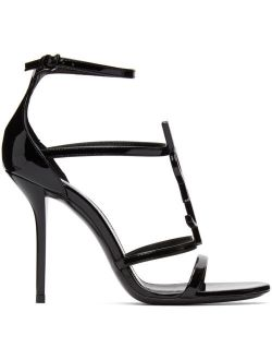 Black Patent Cassandra 100 Heeled Sandals
