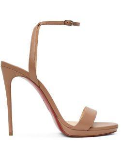 Christian Louboutin Beige Loubi Queen 120 Heeled Sandals
