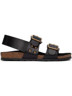Black Jam Flat Sandals