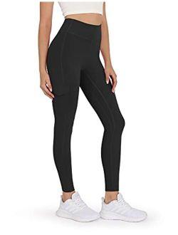 ODODOS Women's High Rise Cargo Pockets Yoga Capris Leggings Workout Athletic Running Cargo Leggings Pants