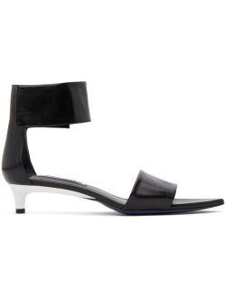 Jil Sander Black Pointed Heeled Sandals