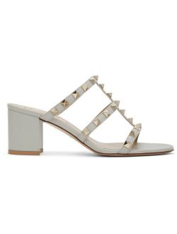 Grey Valentino Garavani Rockstud Sandals