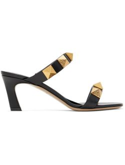 Black Valentino Garavani Roman Stud 65 Heeled Sandals