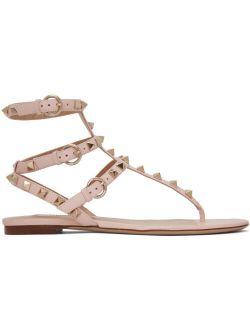Pink Valentino Garavani Rockstud Caged Sandals