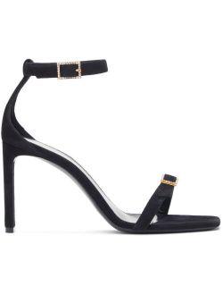 Black Suede Bea 90 Heeled Sandals